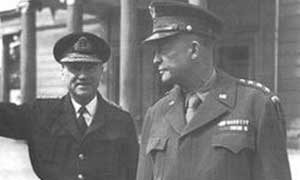 General Eisenhower and Admiral Ramsey at Southwick House