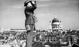 Watching for enemy planes over London